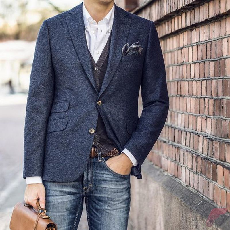 Men sport coat with jeans (20) - Fashion Best