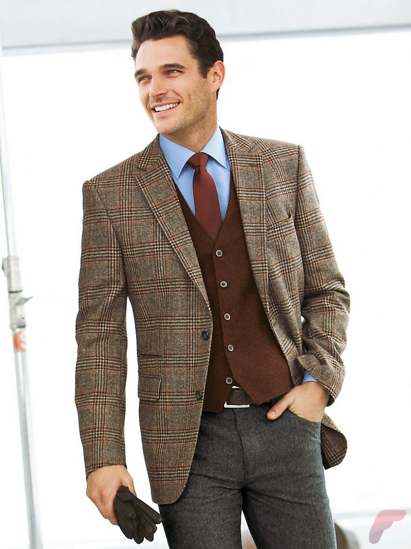 Material for men's big and tall sport coats and blazers. You'll need to make a number of decisions when selecting a sports coat, but the material is one of the most important. While searching, you'll come across wool, cotton, linen, and polyester coats.