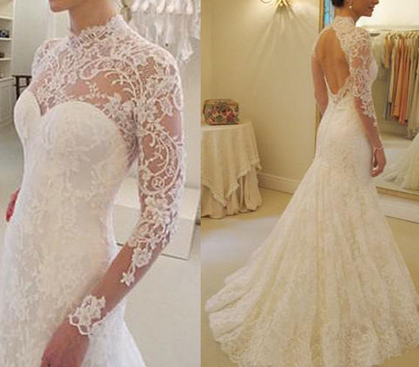 Open back vintage lace wedding dress 42 fashion best for Vintage lace wedding dress open back