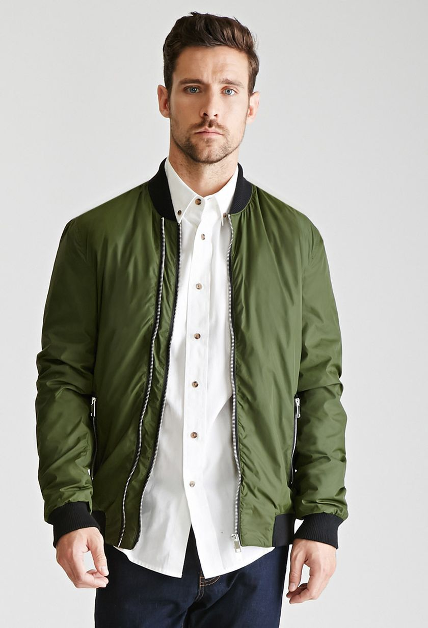 While a statement jacket can be cool, sometimes it's best to go with something understated. This slim-fit bomber from Ami can be dressed up or dressed down, and will pair perfectly with damn near anything .