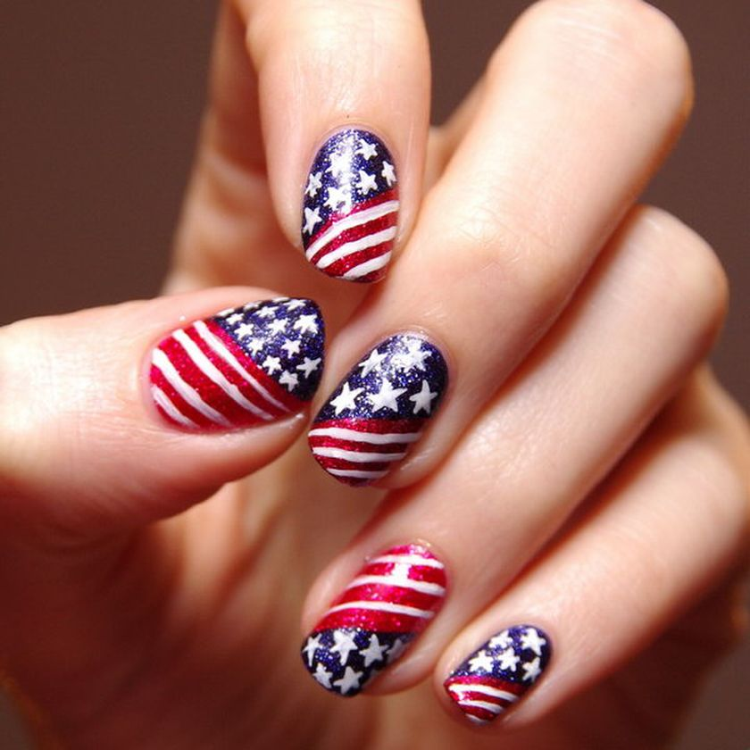 Awesome American Flag Nail Art 14 Fashion Best