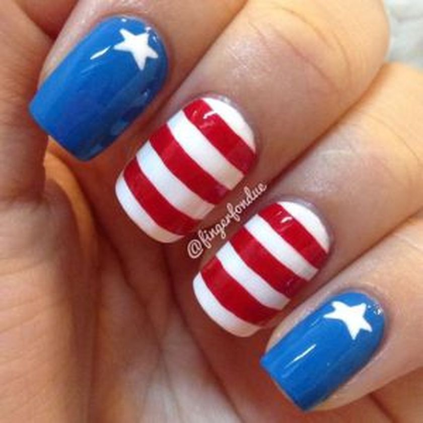 Awesome american flag nail art 15 - Awesome American Flag Nail Art 15 - Fashion Best