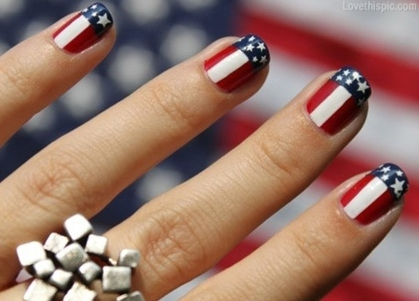 Awesome american flag nail art 18 - Awesome American Flag Nail Art 18 - Fashion Best
