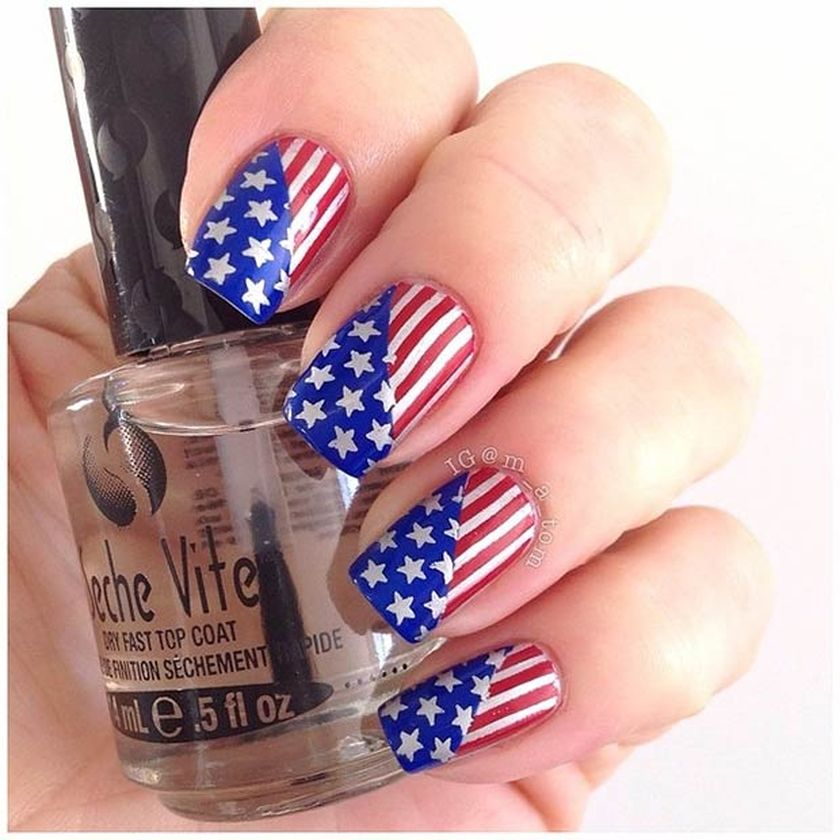 Awesome american flag nail art 2 - Awesome American Flag Nail Art 2 - Fashion Best