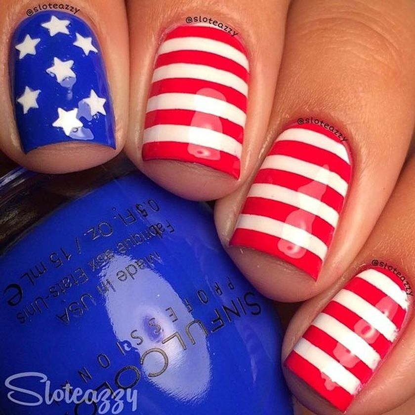Awesome American Flag Nail Art 9 Fashion Best