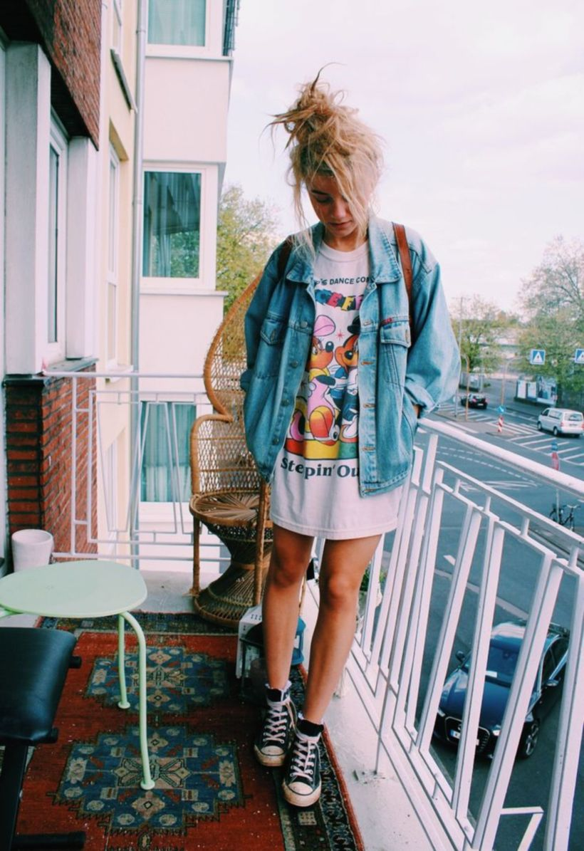 dirt cheap thoughts on 100% original Cute oversized t shirt outfit styles 20 - Fashion Best