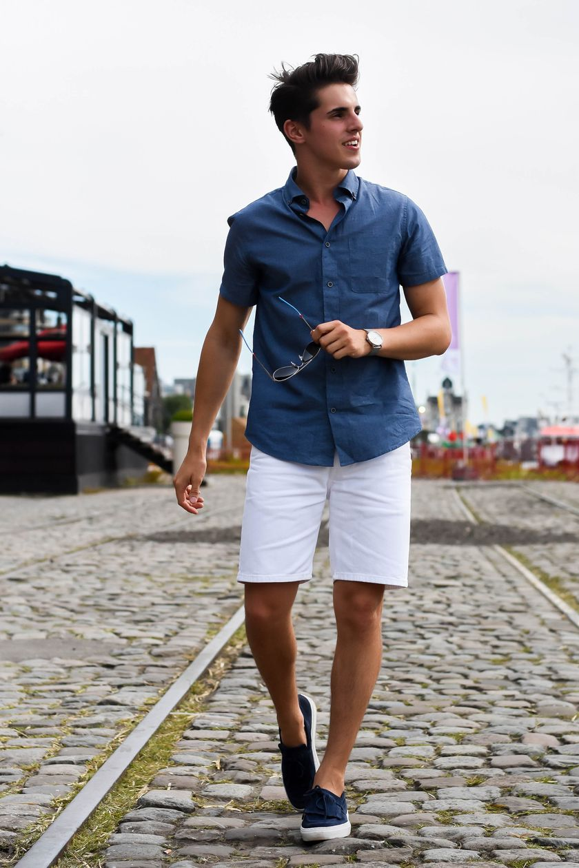 3661dc195a0 Mens summer casual short outfits worth to copy 16 - Fashion Best