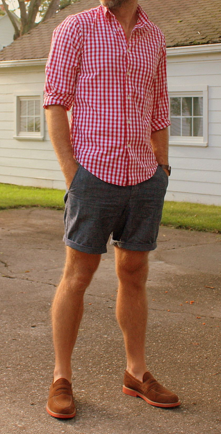 perfect casual shorts outfit men