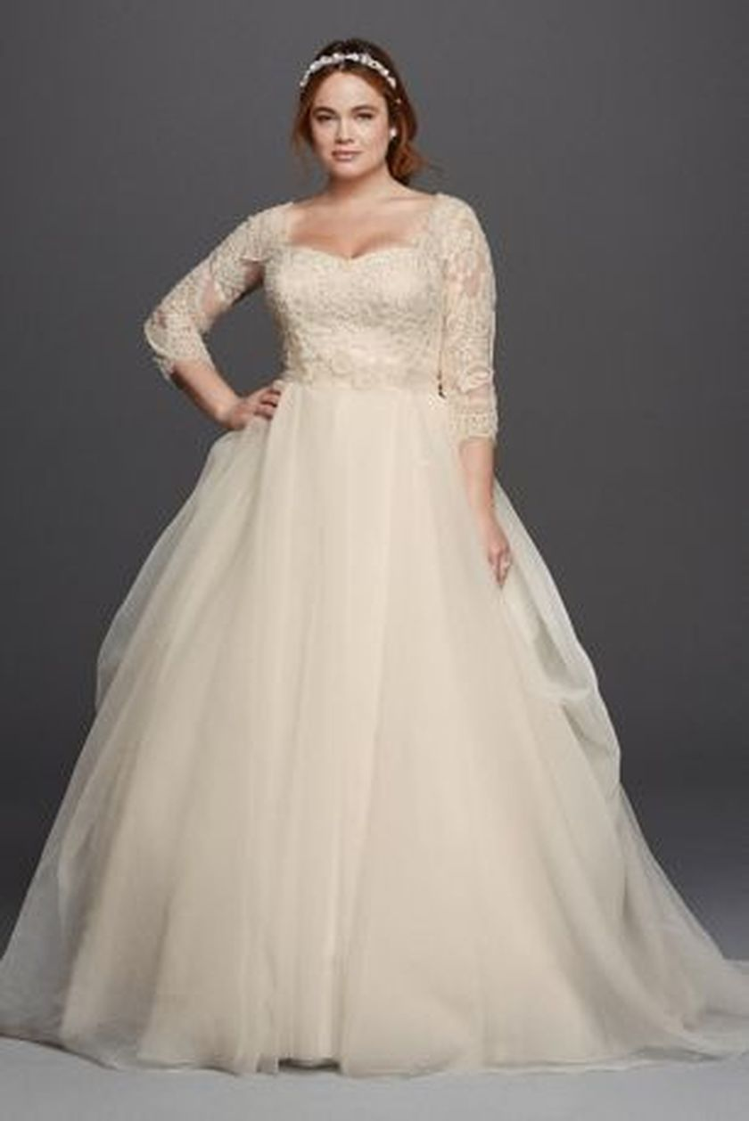 Plus size wedding dresses with sleeves 28 fashion best for Wedding dresses size 28