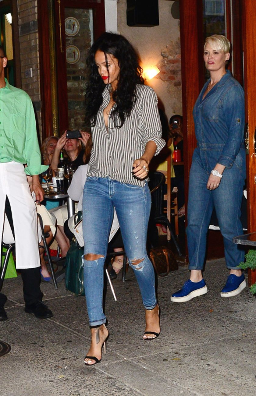 Rihanna Denim Outfit Street Style 61 Fashion Best