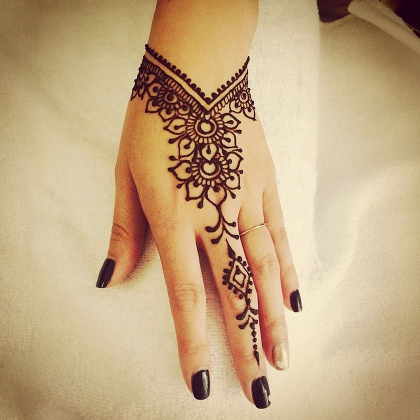 Stunning image of mandala henna hand art 4 , Fashion Best