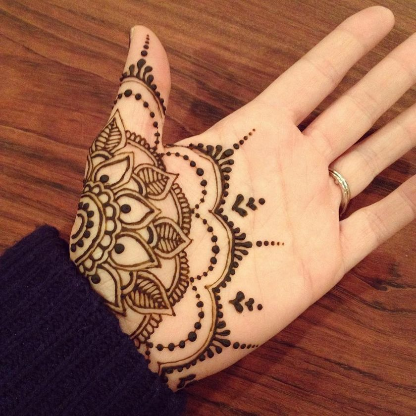 Stunning image of mandala henna hand art 44 , Fashion Best