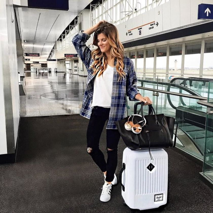 summer airplane outfits travel style 37  fashion best