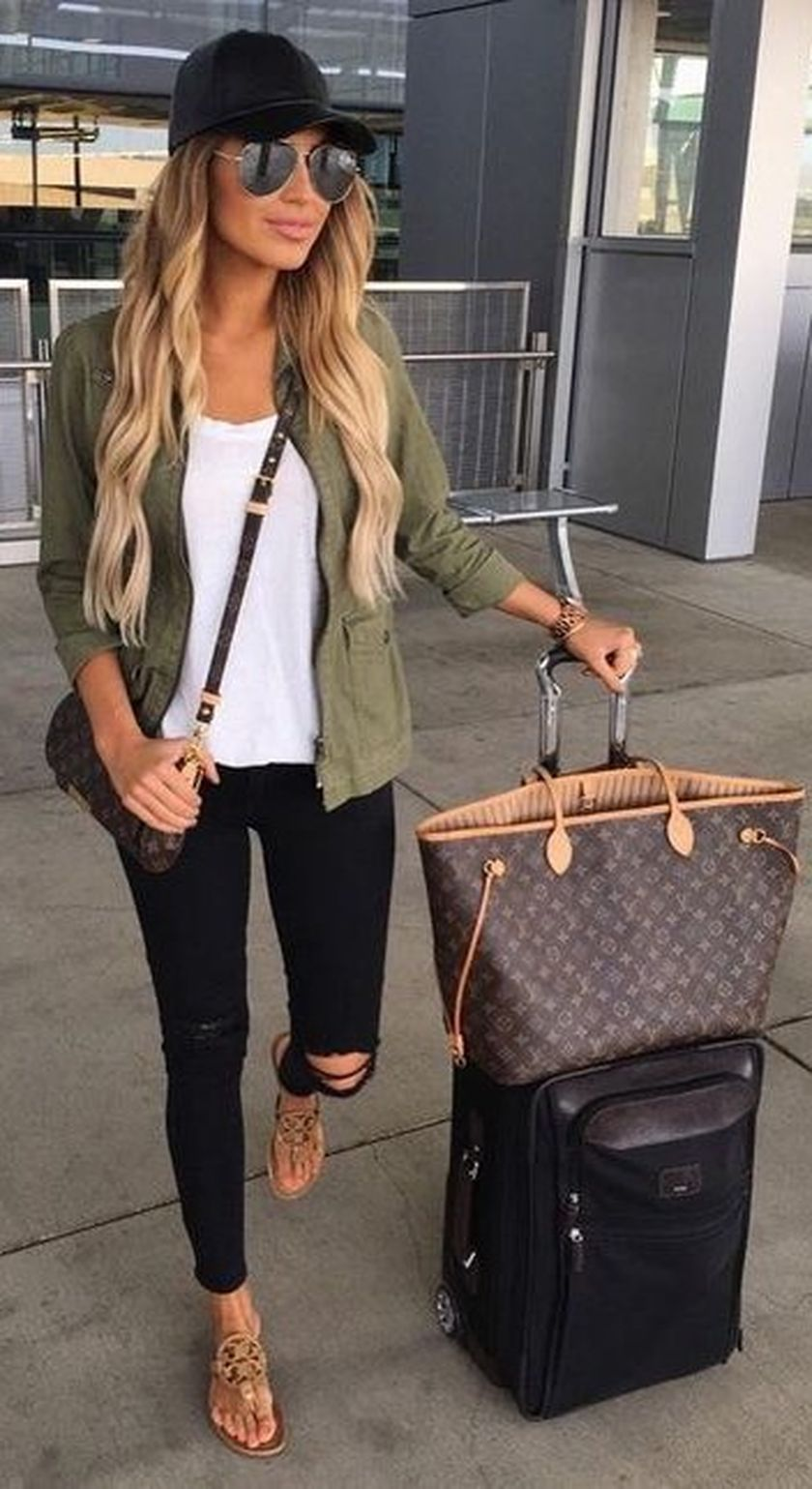 summer airplane outfits travel style 6  fashion best