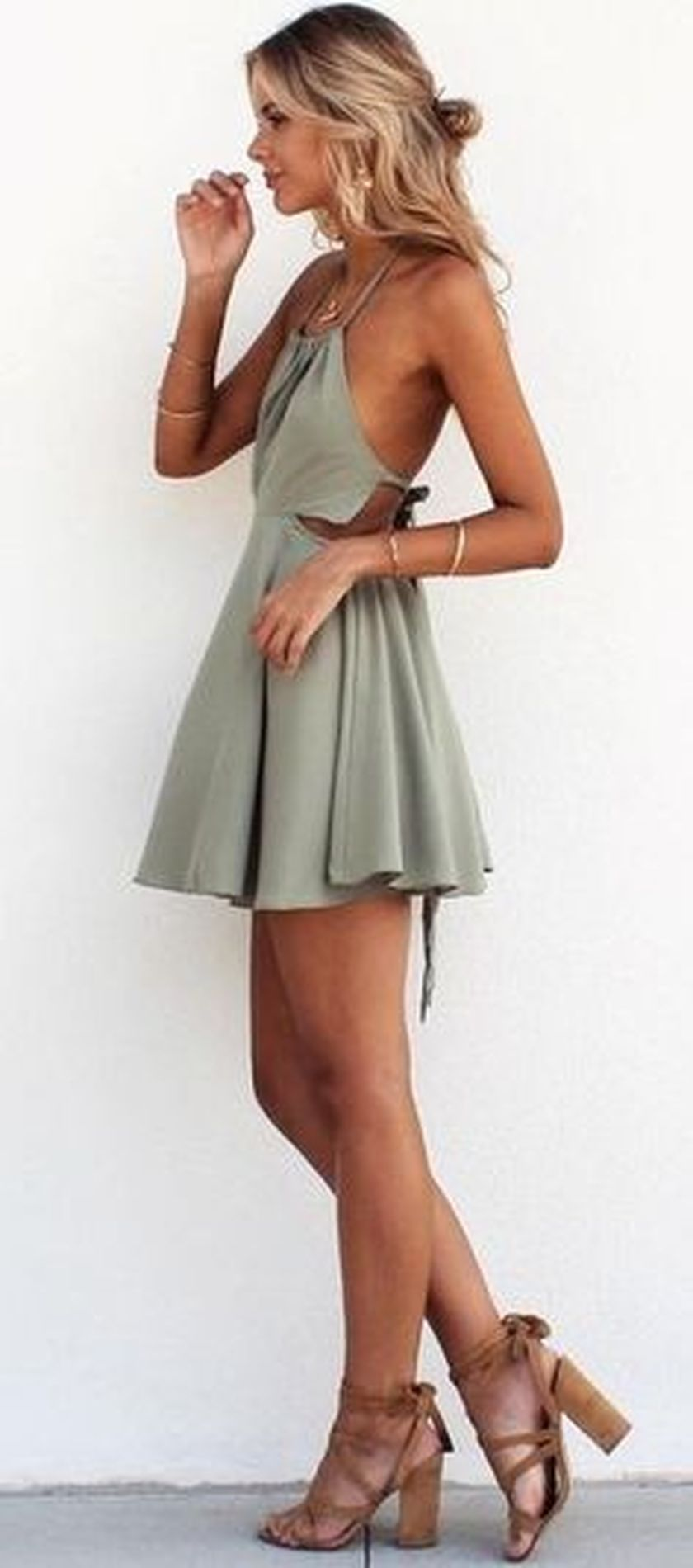 Summer casual backless dresses outfit style 37 - Fashion Best