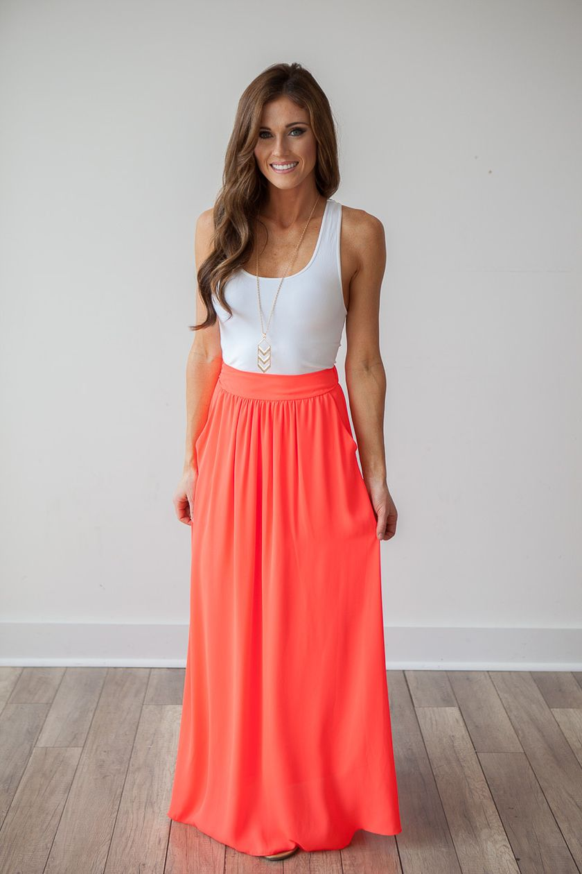 summers casual maxi skirts ideas 42 fashion best