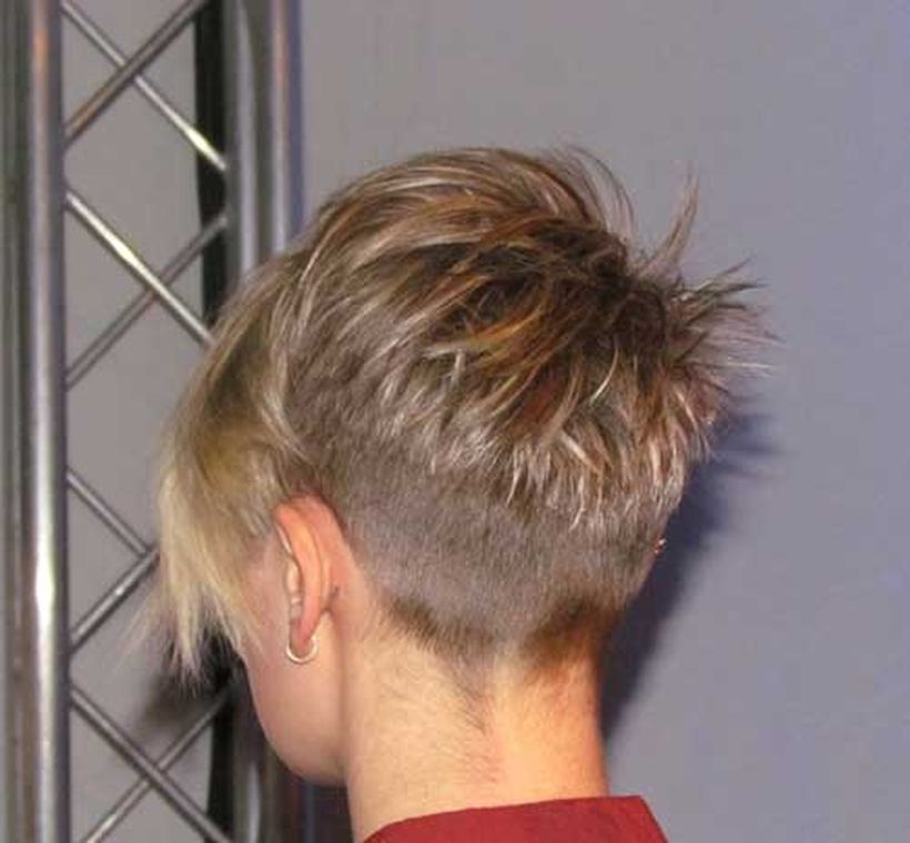 Undercut Back View Undercut Pixie Back Vi...