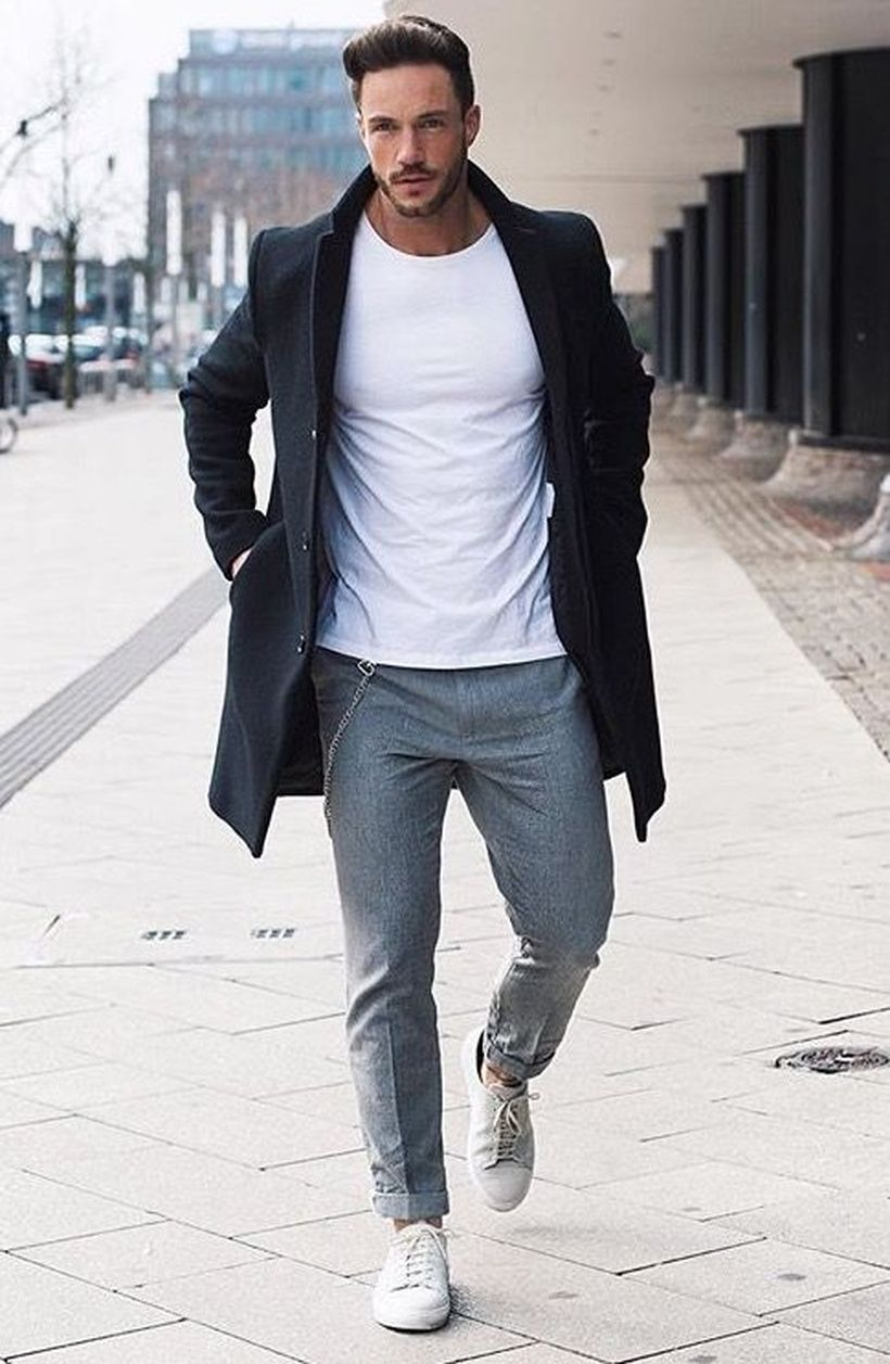 Cool Casual Men Plain T Shirt Outfits Ideas 19 Fashion Best