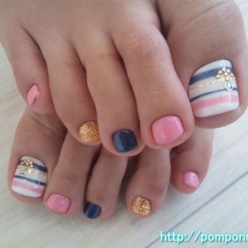 Cool Nail Art: Cool Summer Pedicure Nail Art Ideas 20