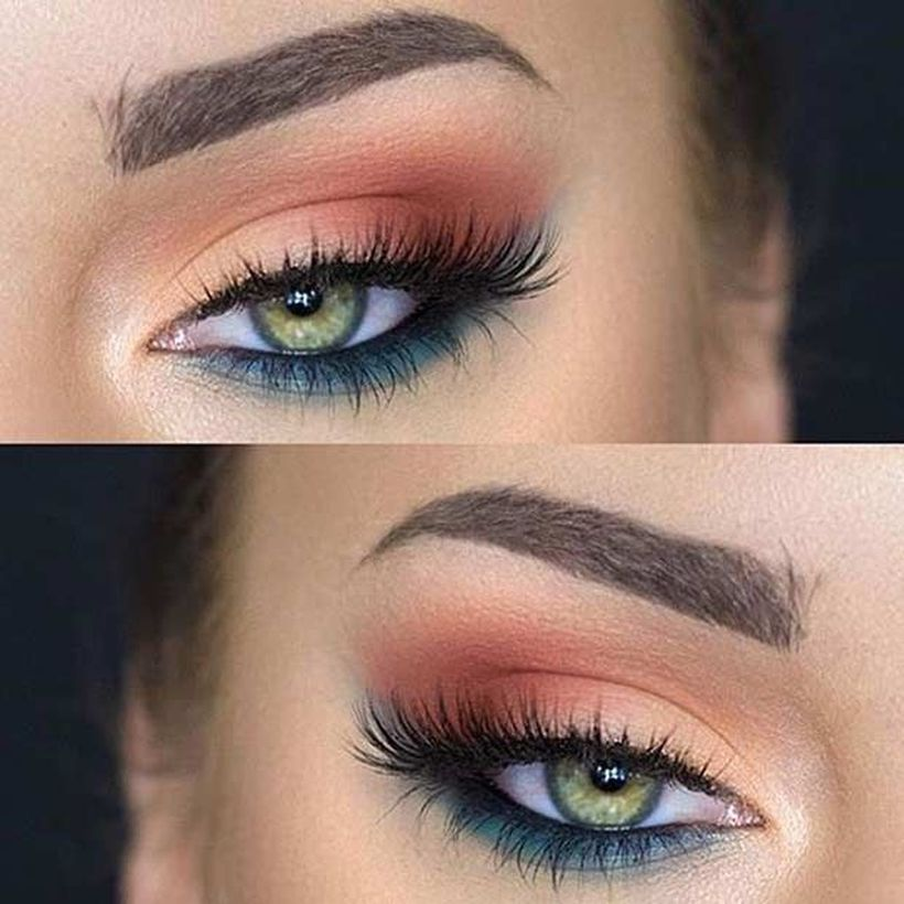 Natural makeup look for green eyes