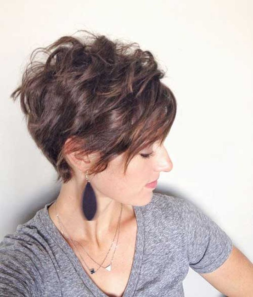 Funky short pixie haircut with long bangs ideas 6 Fashion Best