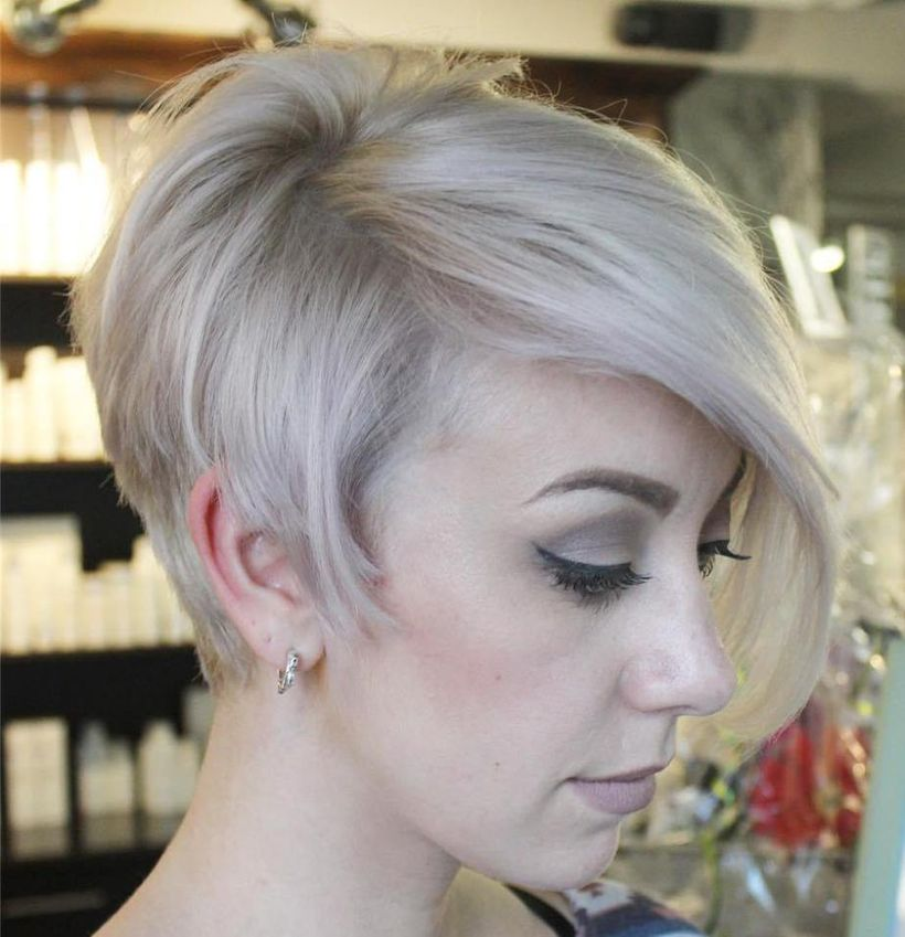 Funky Short Pixie Haircut With Long Bangs Ideas 70