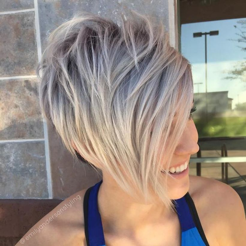 Funky short pixie haircut with long bangs ideas 72 Fashion Best