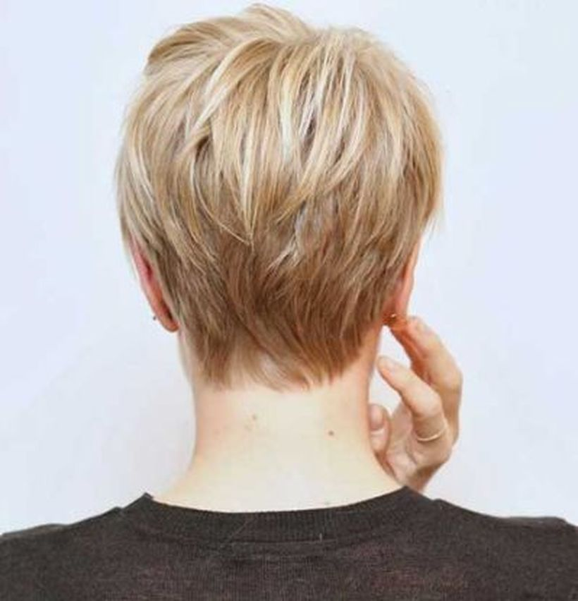 Stylist Back View Short Pixie Haircut Hairstyle Ideas 43