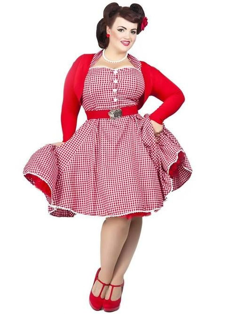 fa8863043e9 Vintage plus size rockabilly fashion style outfits ideas 63 ...