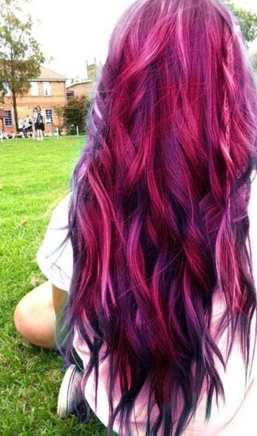 Crazy Colorful Hair Colour Ideas For Long Hair 141 Fashion Best