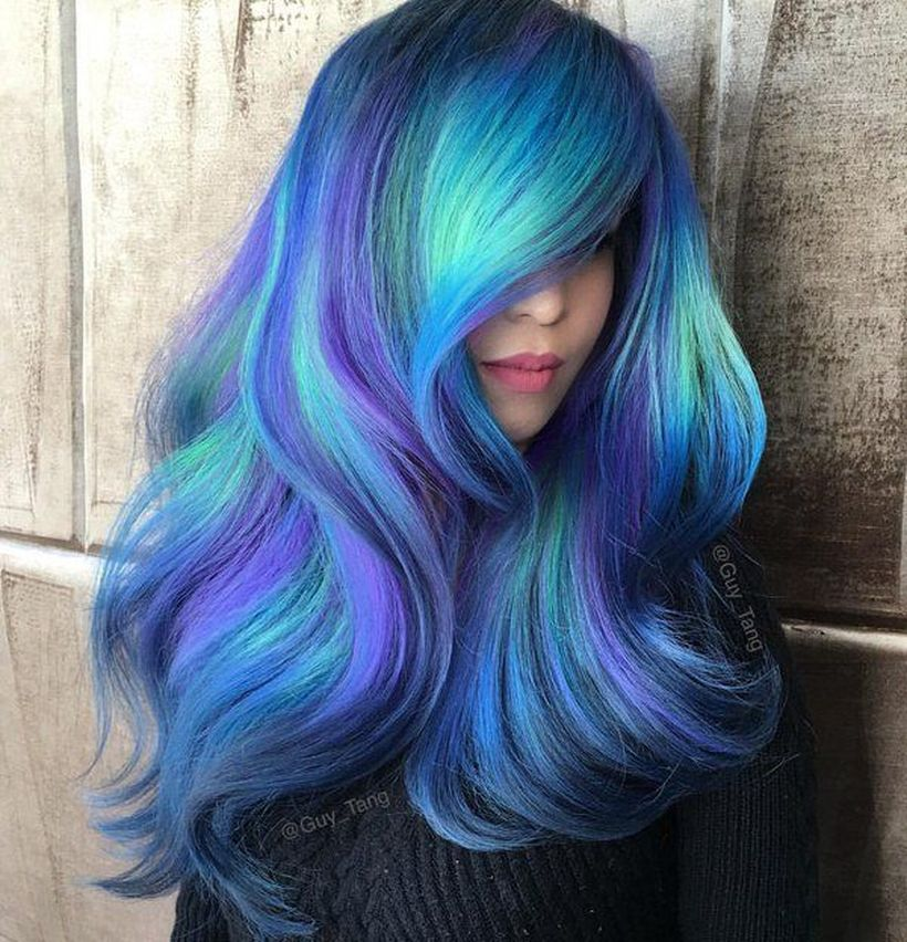Crazy Colorful Hair Colour Ideas For Long Hair 48 Fashion Best