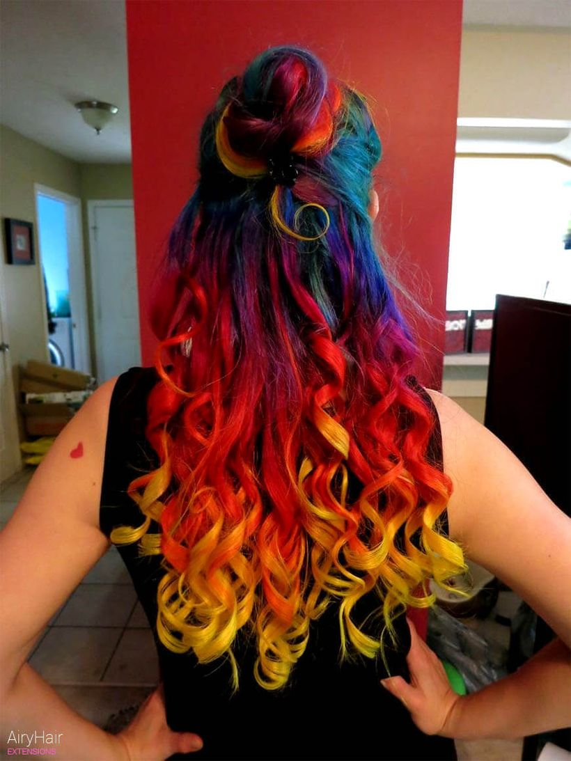 Crazy Colorful Hair Colour Ideas For Long Hair 50