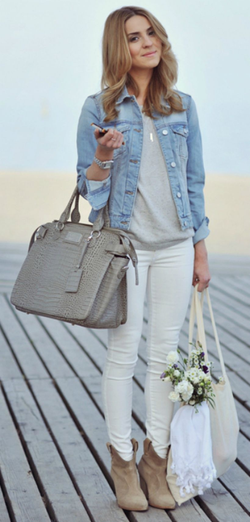 Perfect ways to wear white denim jeans outfits 57 ...
