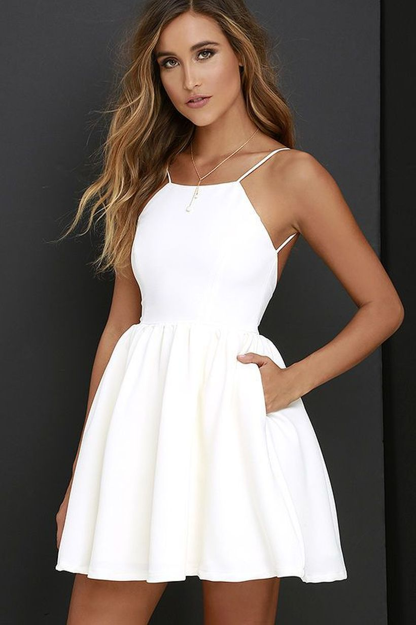 baa73152596 Most cute short white dresses outfits design ideas 84 - Fashion Best