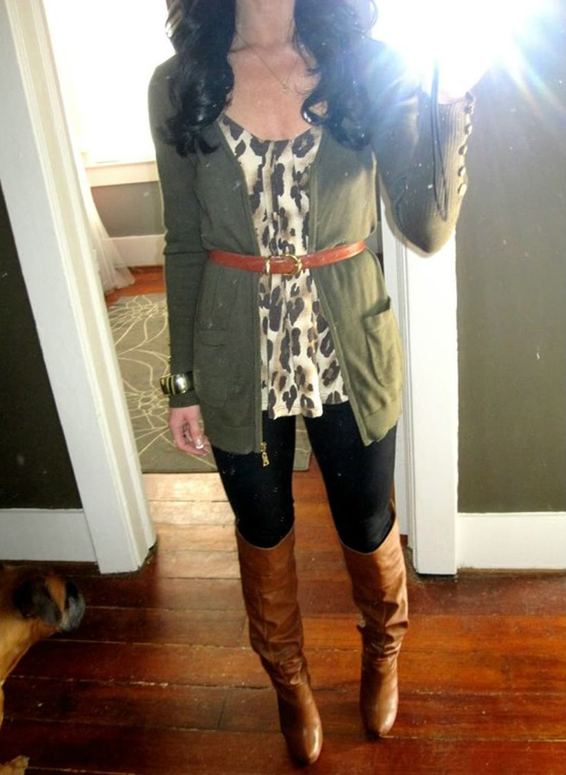 Tips how to wear cardigans and leggings in this fall 41 ...