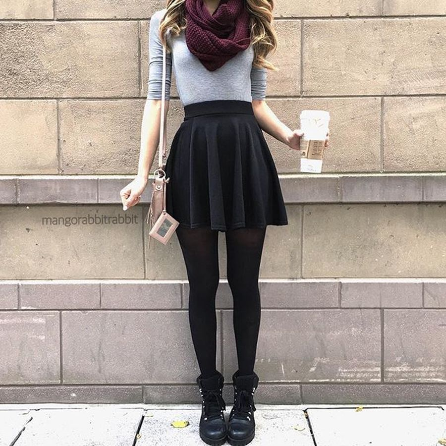 abf6d7d20617 Skirt trends ideas for winter outfits this year 18 - Fashion Best