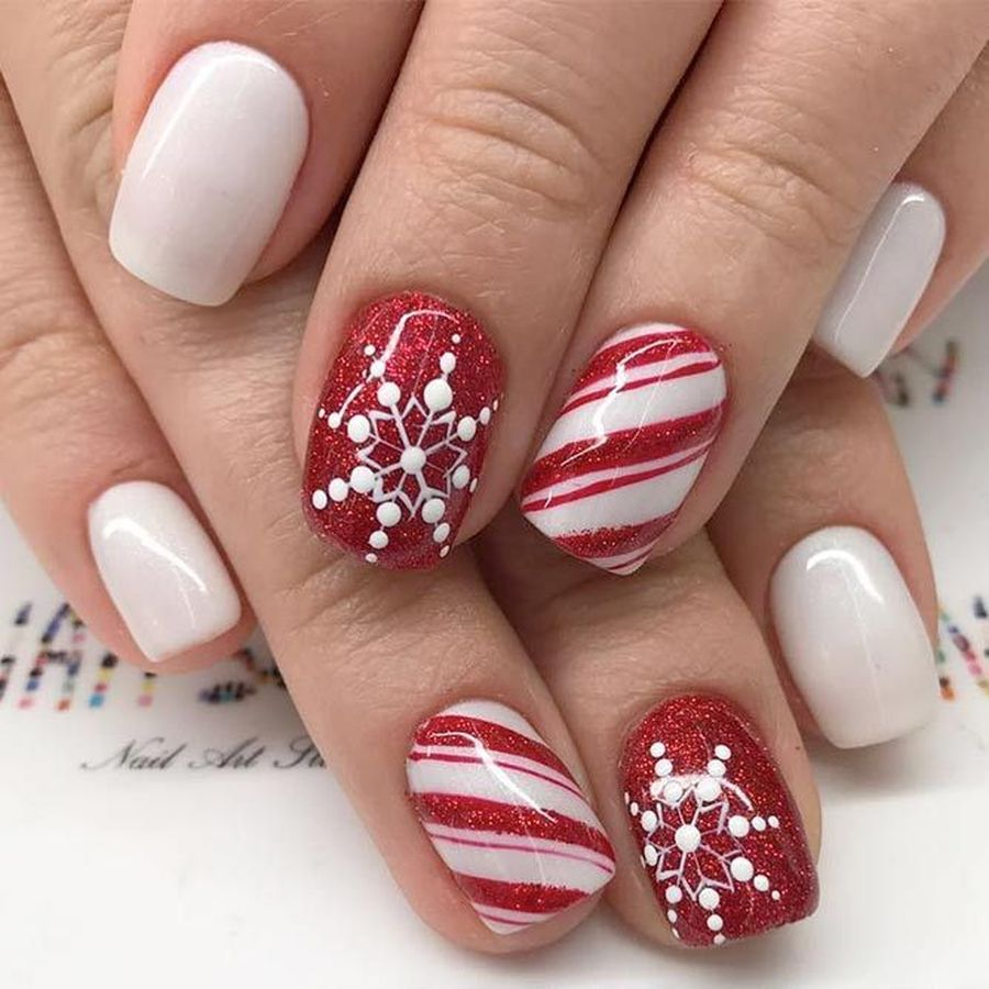 Christmas Nail Art For Short Nails: Cool Holiday Nails Arts 42