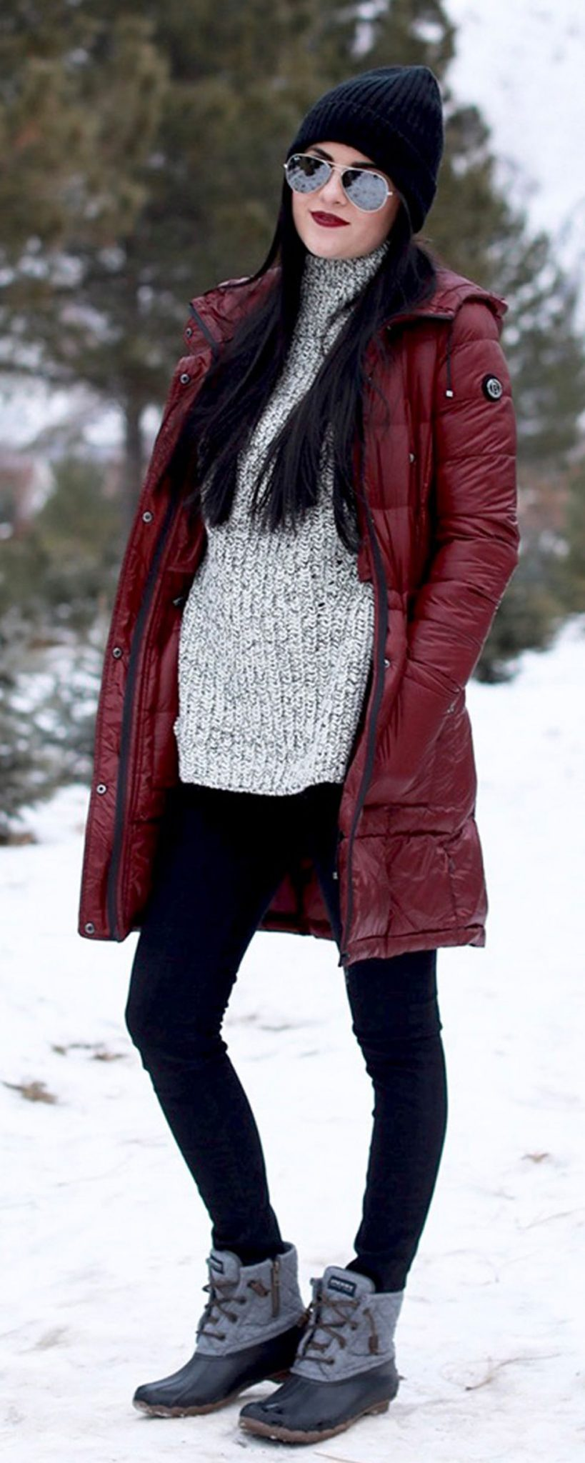 Fashionable women snow outfits for this winter 18 ...