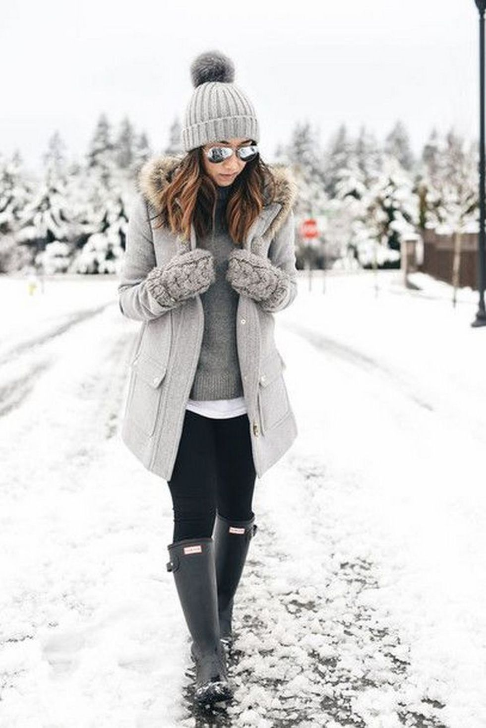 Fashionable women snow outfits for this winter 25 ...