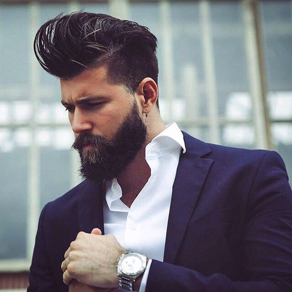 men classy modern pompadour hairstyle 20 fashion best