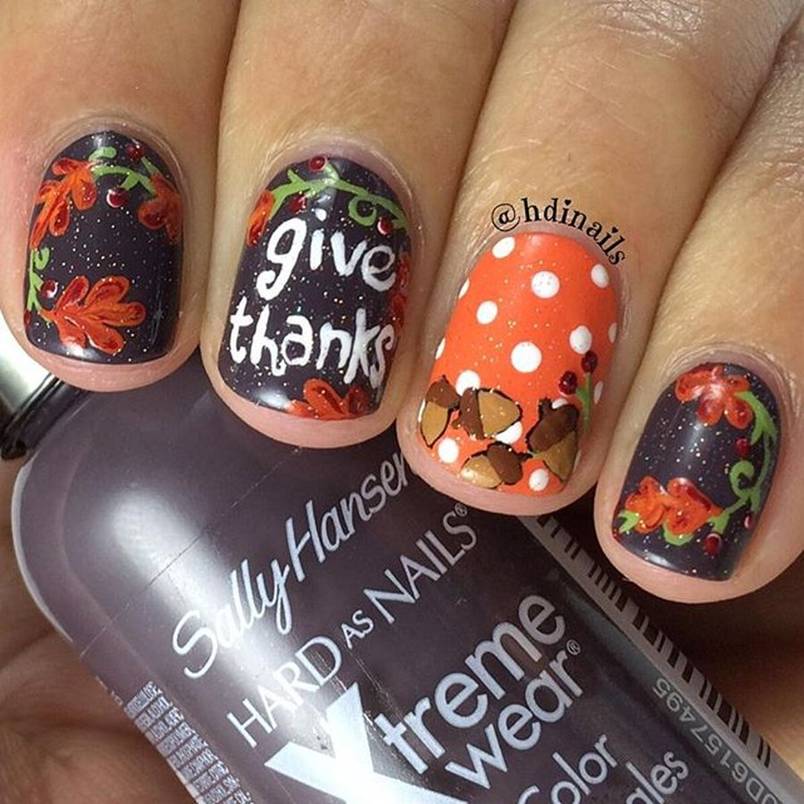 Swag thanksgiving nails art 11 - Swag Thanksgiving Nails Art 11 - Fashion Best