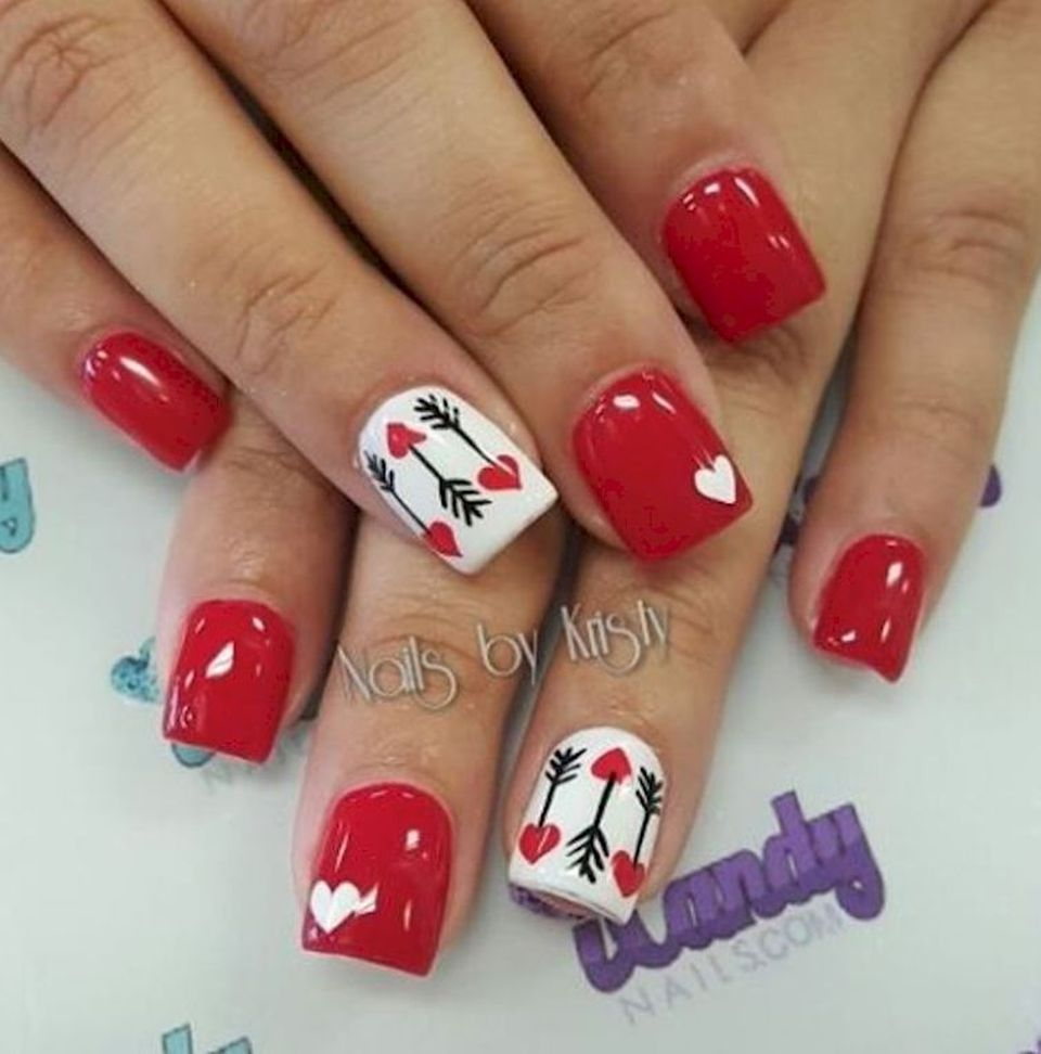 Nail Art Valentines: Lovely Valentine Nails Design Ideas 12