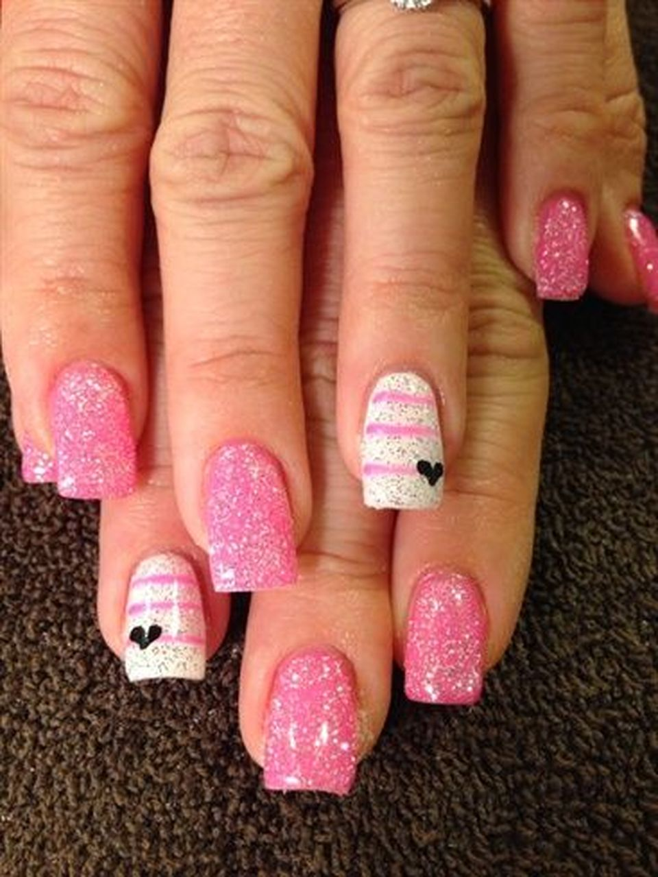Lovely valentine nails design ideas 14 - Fashion Best