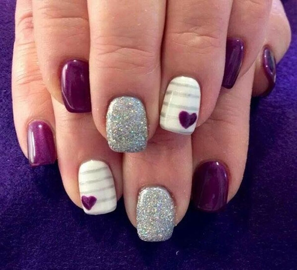 Lovely valentine nails design ideas 44 - Fashion Best
