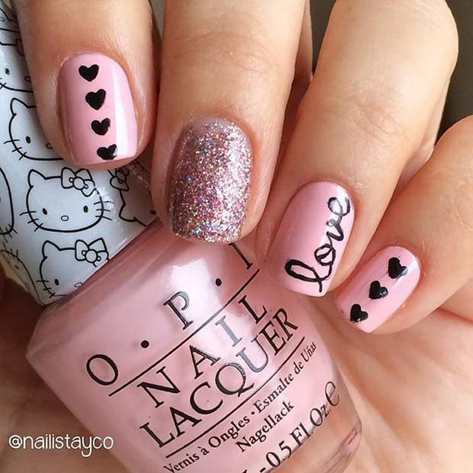 Lovely valentine nails design ideas 47 - Lovely Valentine Nails Design Ideas 47 - Fashion Best