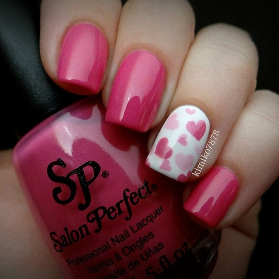 Lovely valentine nails design ideas 55 - Lovely Valentine Nails Design Ideas 55 - Fashion Best