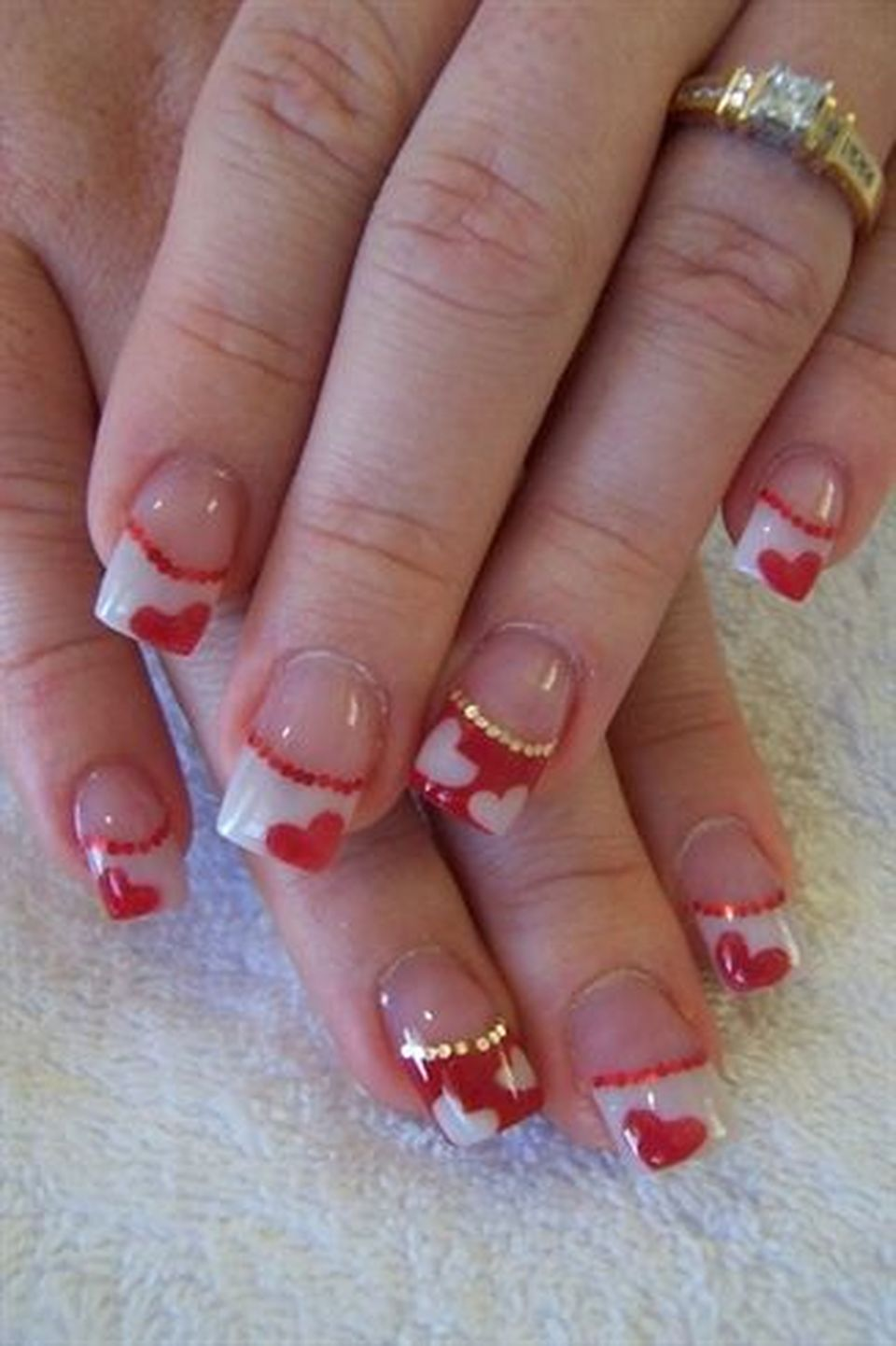 Lovely valentine nails design ideas 62 - Fashion Best