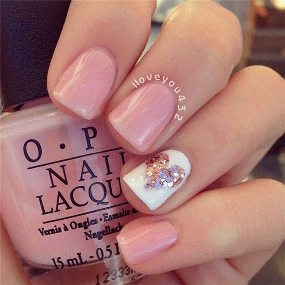 Lovely valentine nails design ideas 83 - Fashion Best