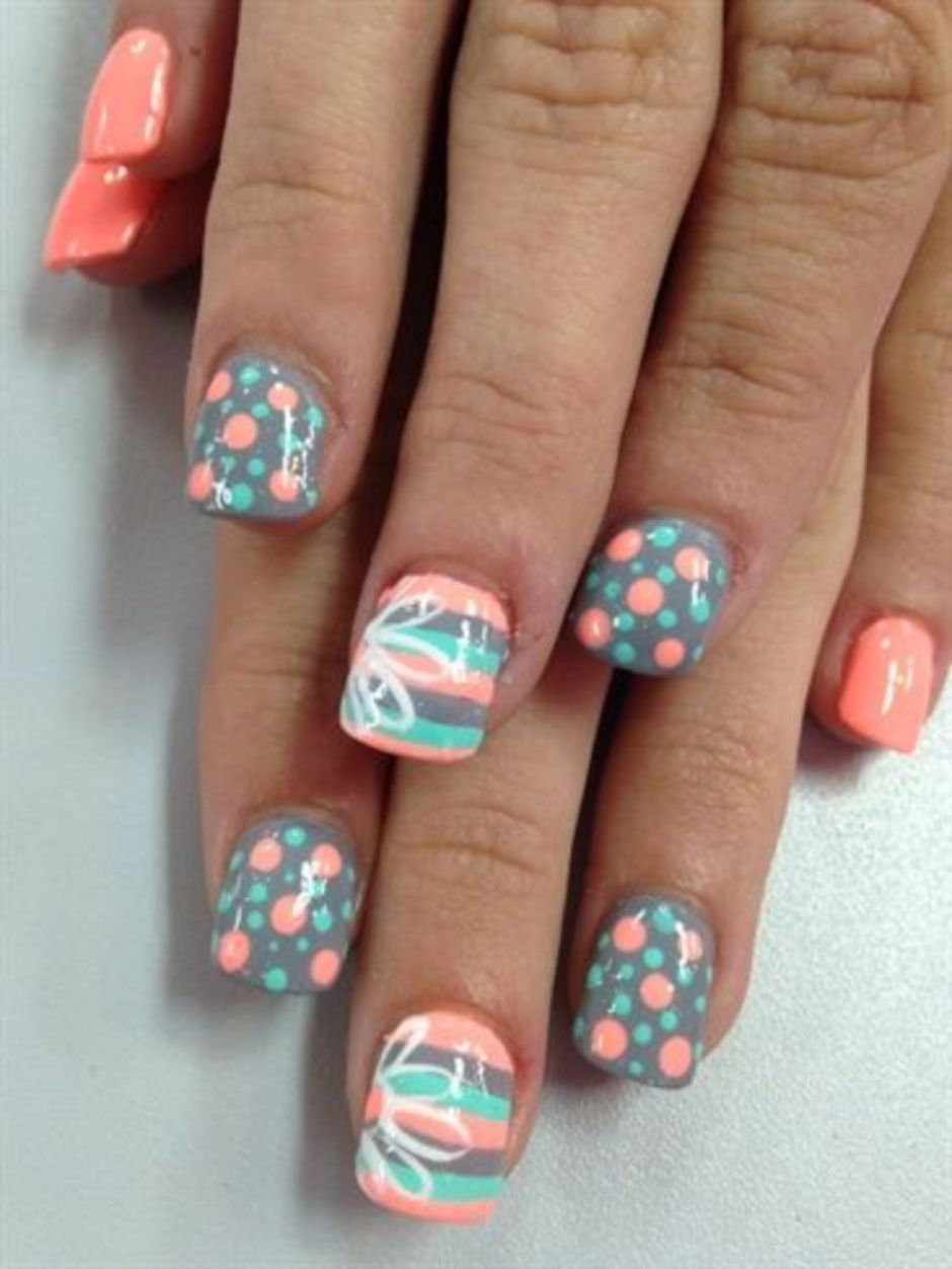 Best Colorful and Stylish Summer Nails Ideas 26 - Fashion Best