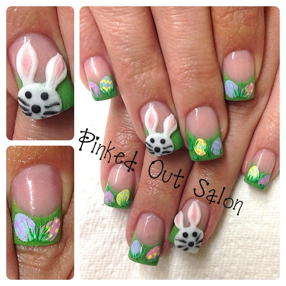 Ehmkay Nails Shy Bunny Easter Nail Art: Cute And Easy Easter Nail Art Design Ideas 31